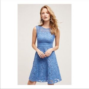 Rare Anthropologie dress blue size 10 NEW